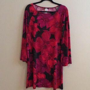 MSK red, pink & black dress